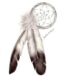 Eagle feathers and dream catcher. American Indian symbols of strength and spirituality. Meg's symbol of her Cherokee heritage.