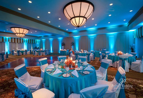 Beautiful setup at this #teal #uplighting #wedding #reception! #diy #diywedding #weddingideas #weddinginspiration #ideas #inspiration #rentmywedding #celebration #weddingreception #party #weddingplanner #event #planning #dreamwedding by @poirierwedding
