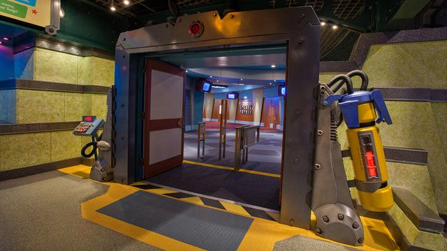 The interior door to Monsters, Inc. Laugh Floor, the only laugh factory in Monstropolis