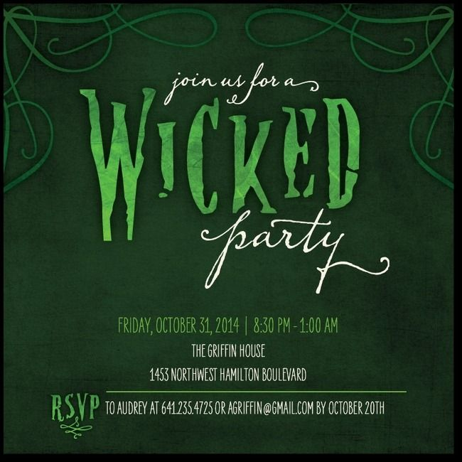 20 best halloween party invitation templates images on pinterest wicked invitation stopboris Choice Image