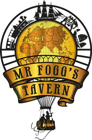 The London Tavern of the eccentric British adventurer, Phileas J. Fogg, Esq. Aunt Gertrude's Gin Parlour & Salon lie above as refuge from the folly below!