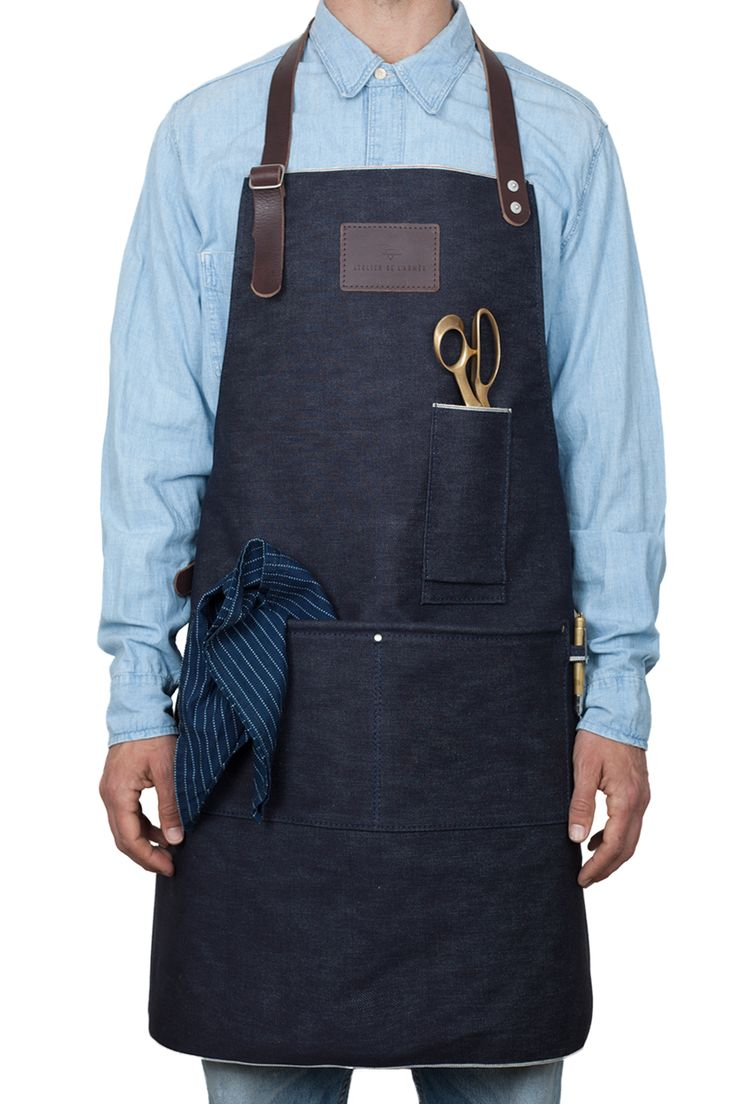 Blue apron omaha - The Apron Is Made Out Of A Heavy Deadstock Japanese Selvage Denim Mixed With A Brown Buffalo Leather And Rivetted Stress Points