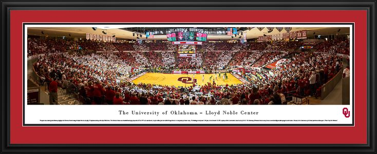 Oklahoma Sooners Basketball Panorama - Lloyd Noble Center Panoramic Picture - Deluxe Frame $199.95