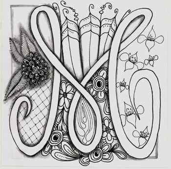 zentangle m | Alpha bet soup : The Letter M | Doodle Zentangle 2