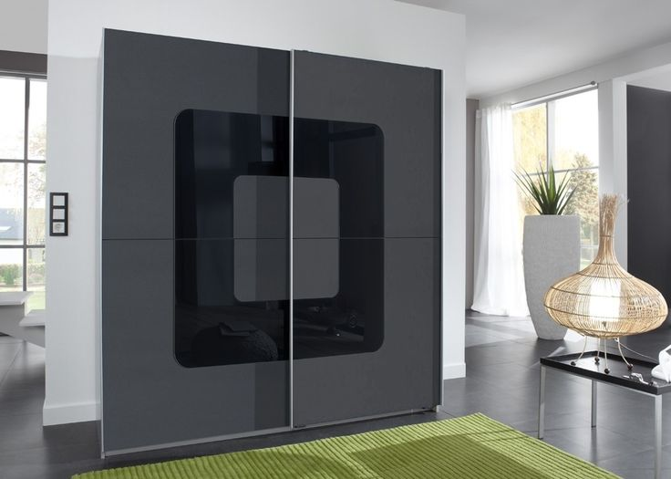 Luxury Kleiderschrank Curve Anthrazit Schwarz Buy now at http