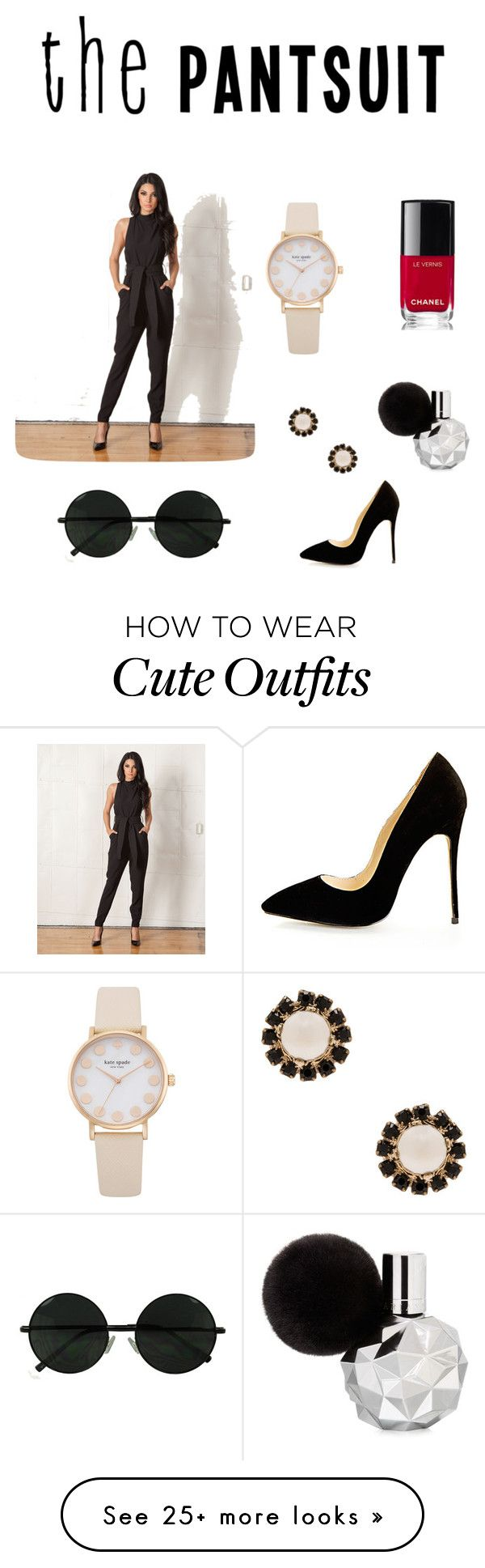 """CUTE PANTSUIT OUTFIT: nice date night outfit"" by omgitsmariahh on Polyvore featuring Cameo, Givenchy, Chanel and thepantsuit"