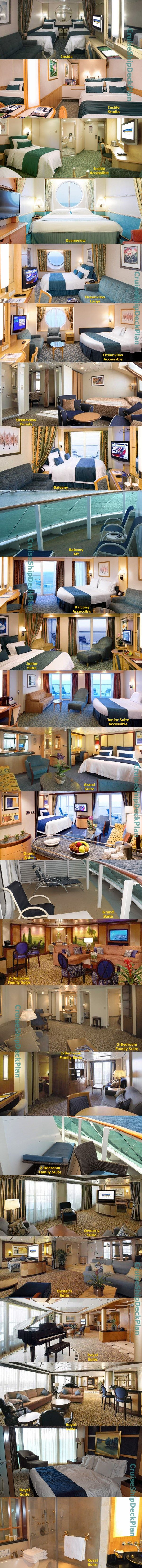 Royal Caribbean Jewel of the Seas cabins and suites photos