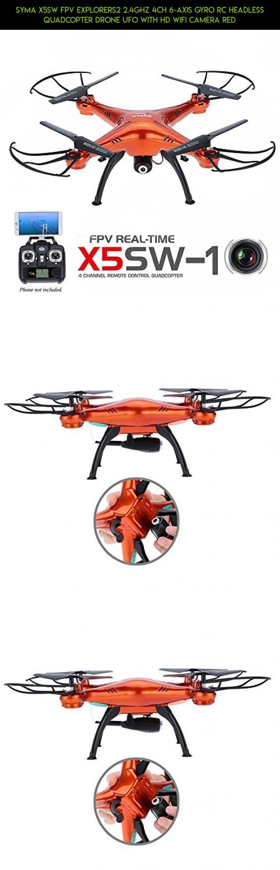 Syma X5SW FPV Explorers2 2.4Ghz 4CH 6-Axis Gyro RC Headless Quadcopter Drone UFO with HD Wifi Camera Red #camera #with #racing #technology #tech #syma #remote #gadgets #camera #fpv #control #kit #shopping #x5sw #drone #2.4g #products #quadcopter #plans #wi-fi #parts