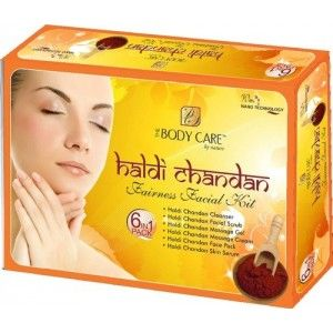 Buy Online Body Care Haldi Chandan Facial Kit to reduce wrinkles and improves skin quality by using haldi chandan facial kit. Call Now: 0 90-41-10-98-70