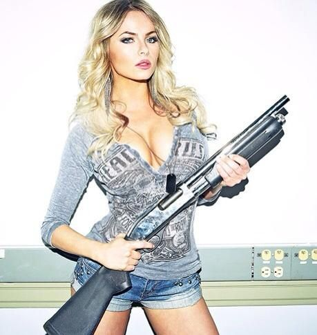 Are sexy chicks with guns cum excellent