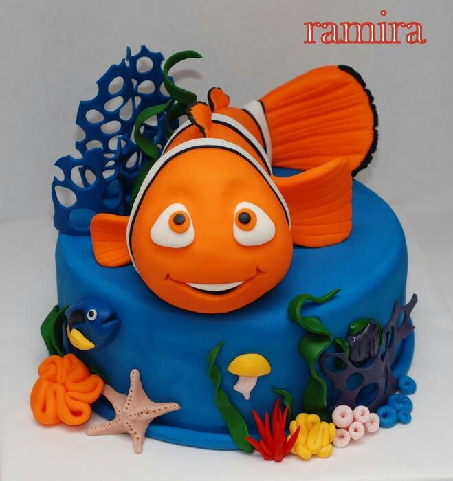 Best Birthday Cake Ideas Images On Pinterest Birthday Cakes - Nemo fish birthday cake