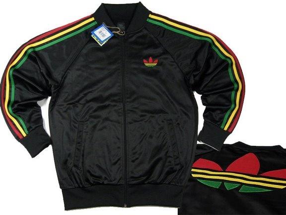 Adidas Ss Padded Firebird Jersey Jamaica Jacket Cool