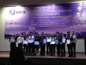 UTM Quantity Surveying Students Won the 7th RICS-RISM International Surveying Conference for Undergraduate Competition 2015