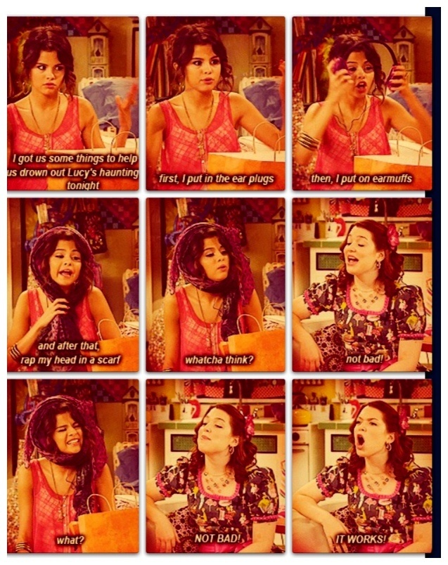 I have to do that. Amazing thing Alex Russo comes up with