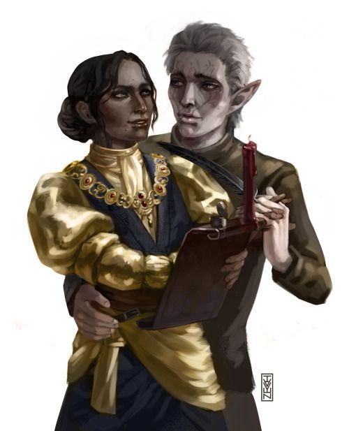 Lavellan and Josephine/ Dragon Age: Inquisition