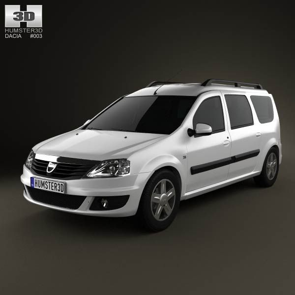 Dacia Logan MCV 2011 3d model from humster3d.com. Price: $75