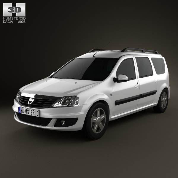 Dacia Logan MCV 2011 3d model from humster3d.com. Price: $75