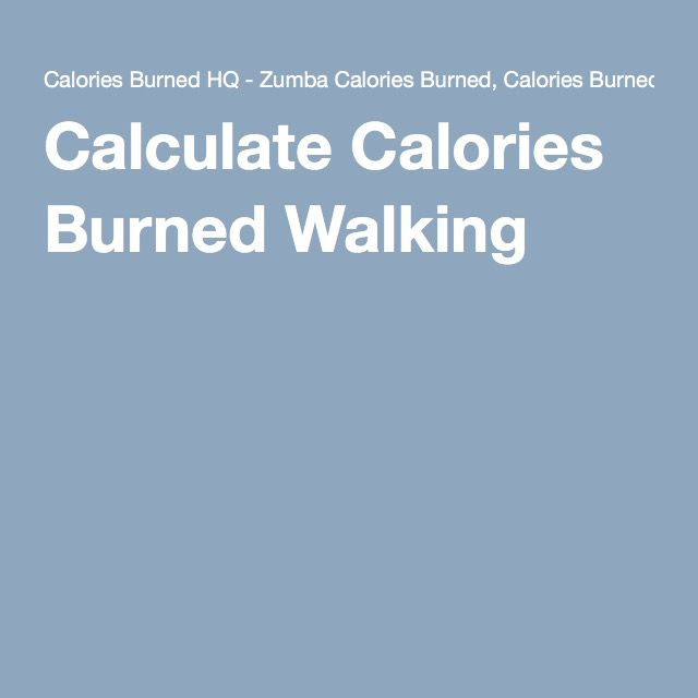 Calculate Calories Burned Walking