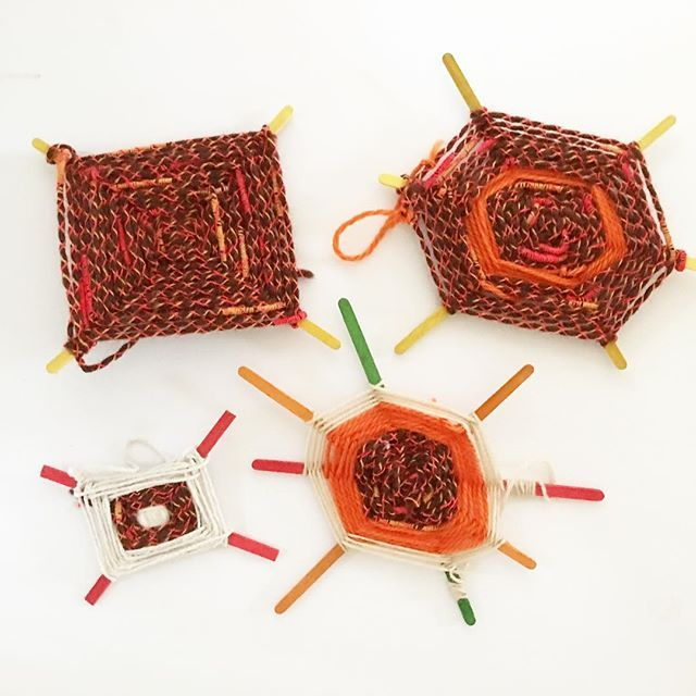 Miss 7 has discovered Gods Eye weaving. Here are some of her favourite creations