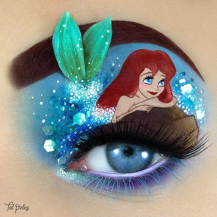 "Eye Makeup Art Inspired by Disney's ""The Little Mermaid"""