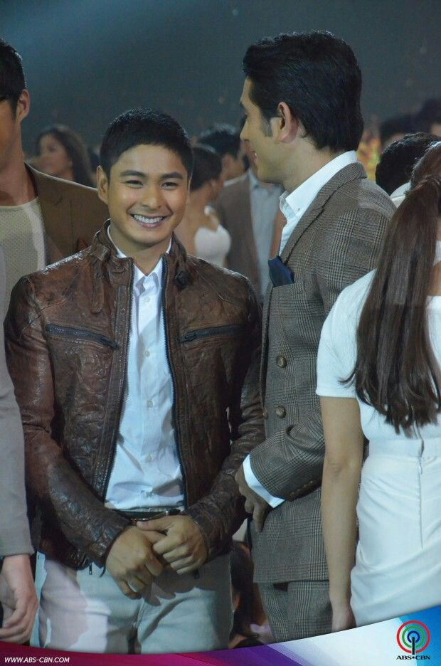 This is the handsome Coco Martin and the handsome Gerald Anderson smiling for the camera after walking on the ASAP stage during the Parade of Star Magic Talents during Star Magic Day and Star Magic 23rd Anniversary on ASAP at ABS-CBN Studio 10 last July 26, 2015. Indeed, they're another of my favourite Kapamilyas and they're amazing Star Magic talents. #CocoMartin #IdolongMasa #GeraldAnderson #StarMagic23 #starmagic23rdanniversary #ASAP20