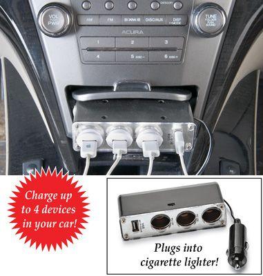 Portable Car Charger Splitter