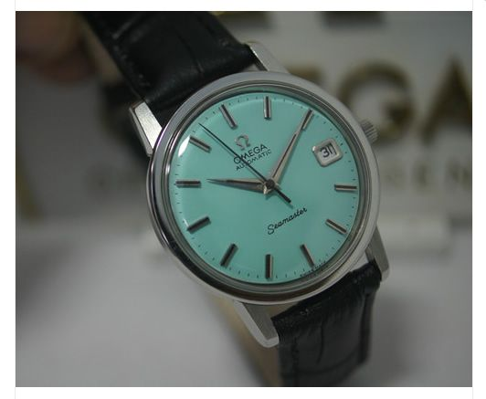 My latest watch purchase, very rare and unusual Omega with Turquoise dial circa 1960.