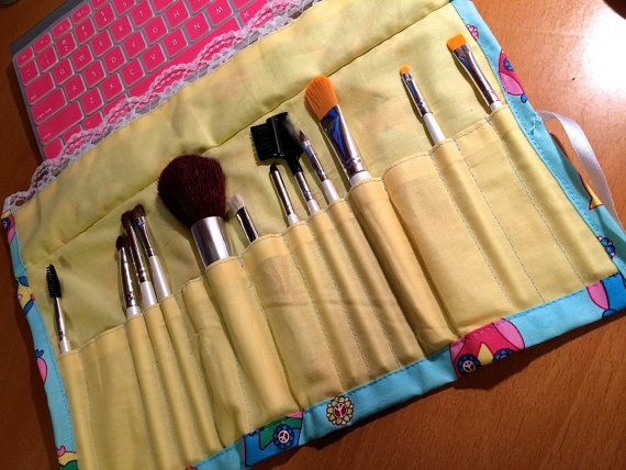 Cute Makeup Brush Bag by ArmCandySquared on Etsy, $19.99