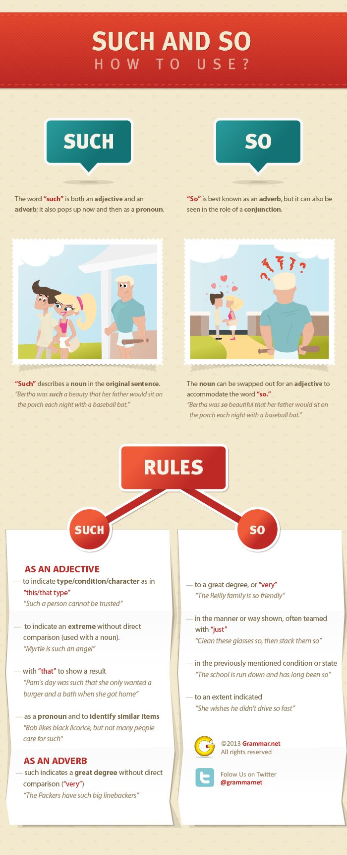 """How to Use 'Such' and 'So'"" (#INFOGRAPHIC)"