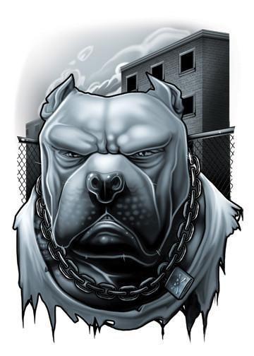 Pitbull - Black and Red Temporary Tattoo | Tatt Me Temporary Tattoos