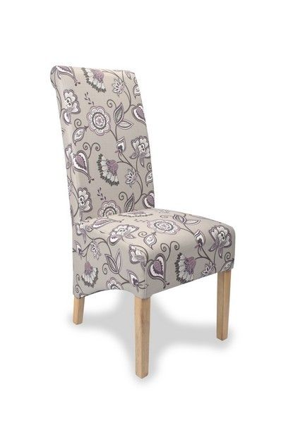 Buy The Krista Deco U0027Morris Styleu0027 Fabric Dining Chairs At Oak Furniture  Superstore