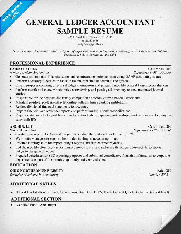General Accounting Resume - Vosvete.net