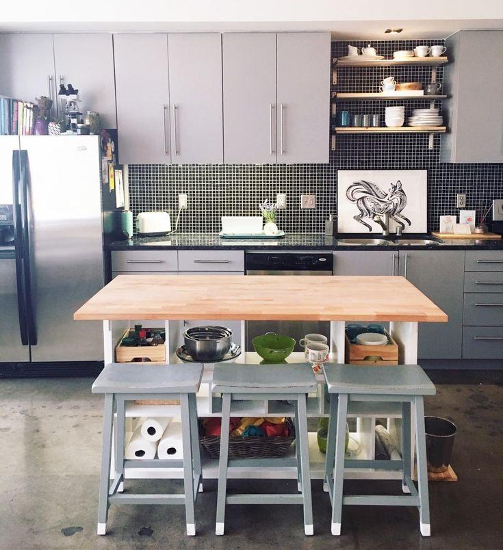 double ikea kitchen storage ikea hack kitchen island