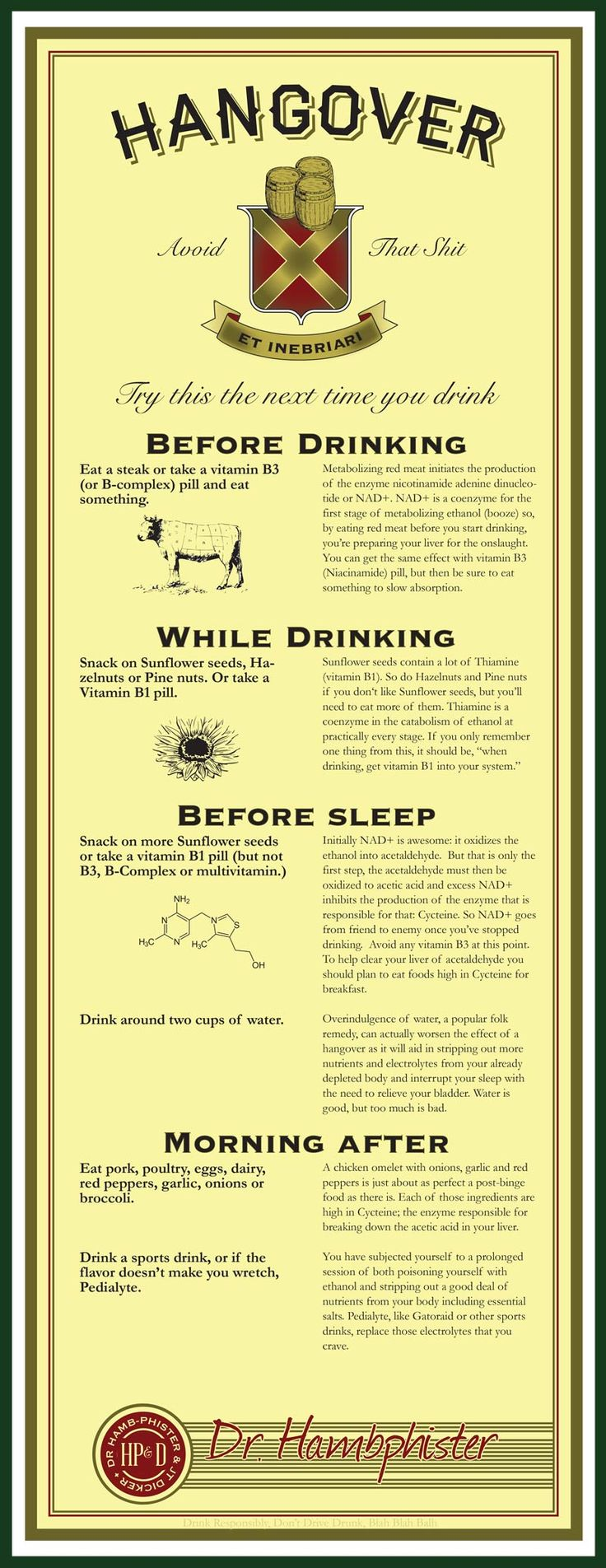 Prevent a hangover with SCIENCE