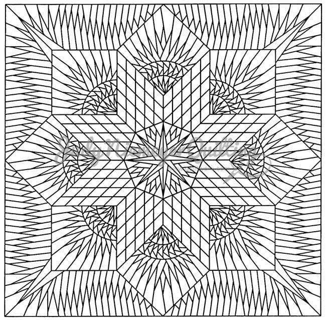 Prairie Star Line Drawing, Quiltworx.com, Made by Quiltworx.com.