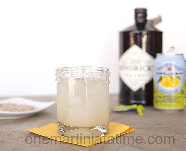 Alton Browns Cutthroat Cocktail - Hendrick's Gin & San Pellegrino Aranciata   \\  Salty Hound Cocktail - Hendrick's Gin, San Pellegrino Pompelmo and rimmed with Herbs de Provence sea salt.