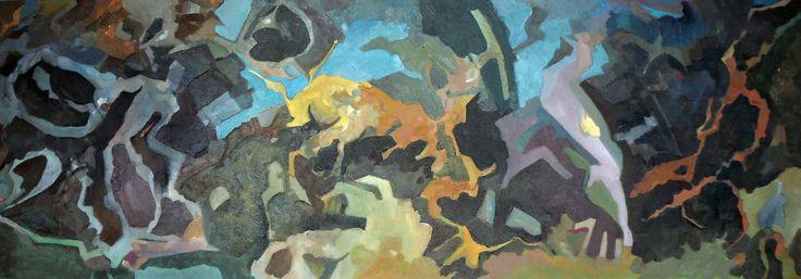 Andalucian Evolucion | Oil on Canvas | Malaca Instituto, Malaga | Juanman | June 2014.