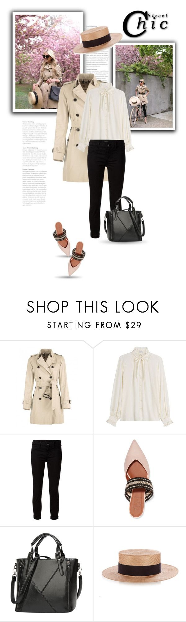 """""""27.04.17"""" by bliznec ❤ liked on Polyvore featuring Burberry, Closed, J Brand, Malone Souliers and Federica Moretti"""