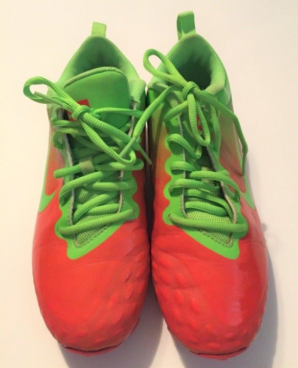 Can You Wear Baseball Cleats For Football Nike Fastflex Baseball Cleats Youth Size 6y Please Realize This Is 6y A Youth Size Neon Orange And Green Plenty Of Life Cleats Nike Cleats Football Cleats