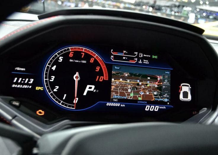 The dash in the new Lamborghini  hurracan looks awesome