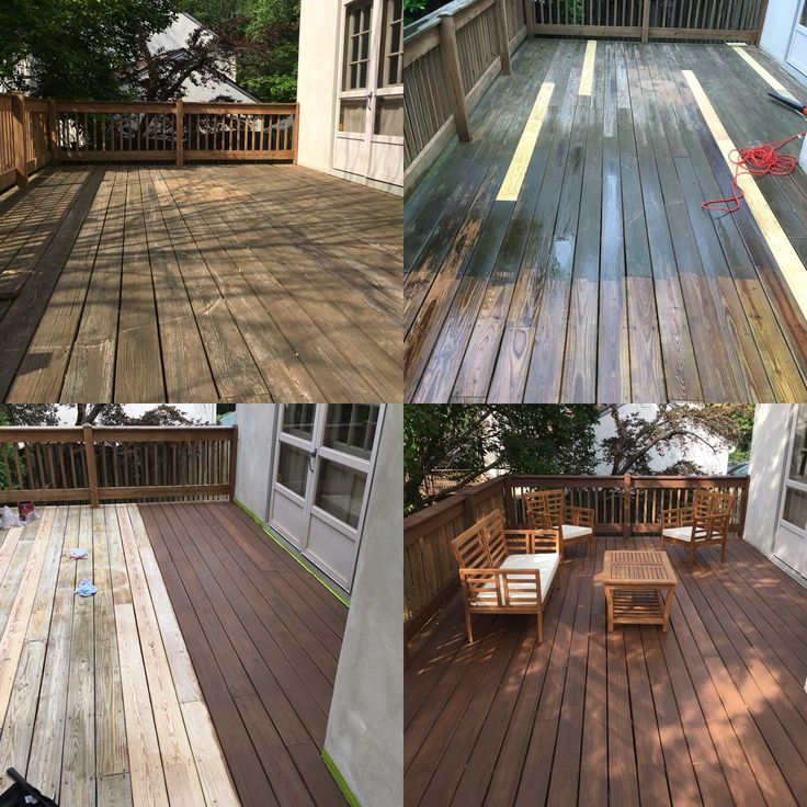 Deck renovation with Sherwin Williams Hawthorne semisolid stain