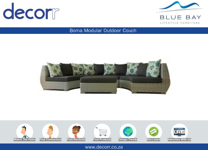 #DecorrOutdoor Boma Modular Outdoor Couch at http://www.decorr.co.za/blue-bay/ #decorrpromo