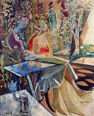 Two friends - Nikos Hadjikyriakos-Ghikas 1959