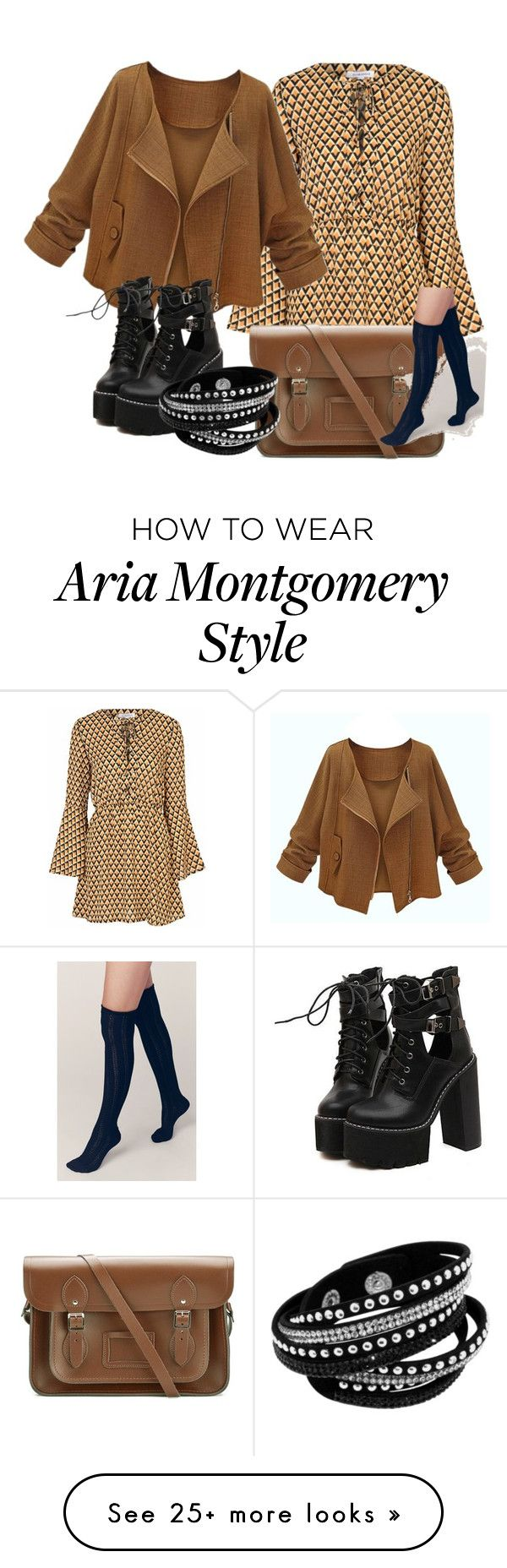 """Aria Montgomery"" by ebbigebi on Polyvore featuring Glamorous, WithChic, The Cambridge Satchel Company and Free People"