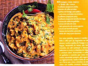 Pitadinha: Frango com curry e leite de coco - Enviada pela Iv...