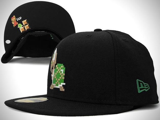 Super Mario Bros new era fitted hat collection. The collection features a handful of fitted hats, and includes 8 bit versions of Mario, Koopa, and the classic power-up Star among others.