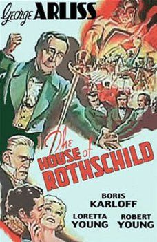 Boris Karloff, Robert Young, George Arliss, and Loretta Young in The House of Rothschild (1934)