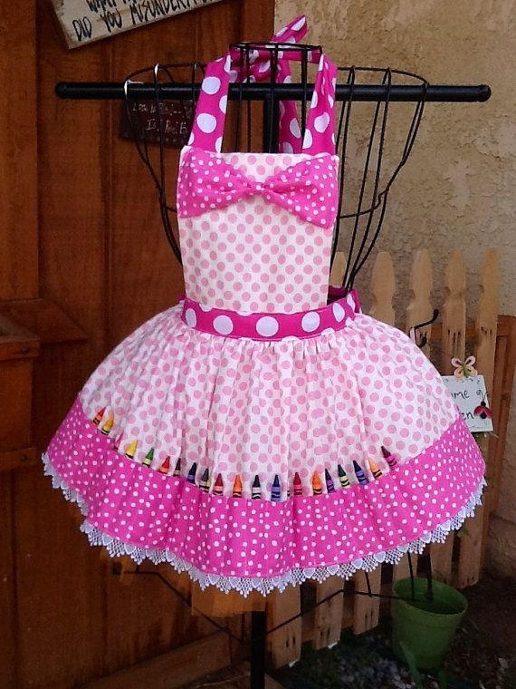 Hey, I found this really awesome Etsy listing at https://www.etsy.com/listing/181255137/my-crayon-party-apron-with-coloring-book