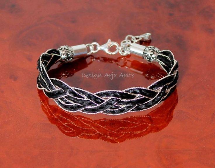 Horsehair bracelet. Horsehair and Sterling Silver.