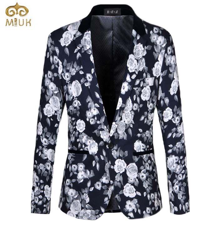 >> Click to Buy << Large Size Floral Cotton Men Blazer 6XL 5XL Casual Business Party Wedding Blazer Masculino Fashion Men's Blazer 2017 New #Affiliate